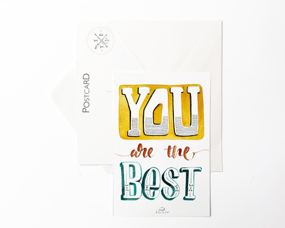 Postcard you are the best thumb