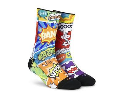 Dynamocks comic crash unisex crew socks thumb