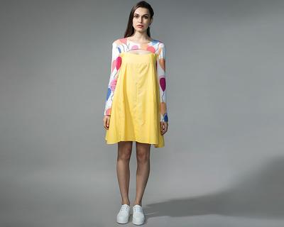 Yellow tent dress thumb
