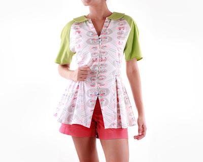 Panelled peplum shirt thumb