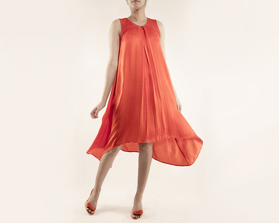 Dress with pleat detail thumb