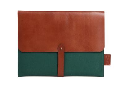 Laptop folio green thumb