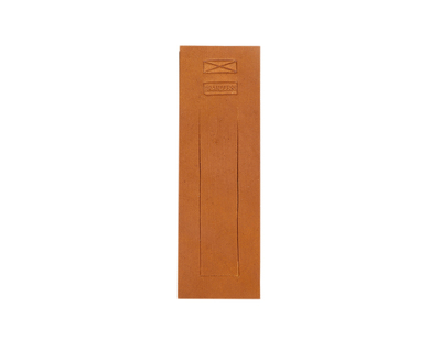 Leather bookmark tan thumb