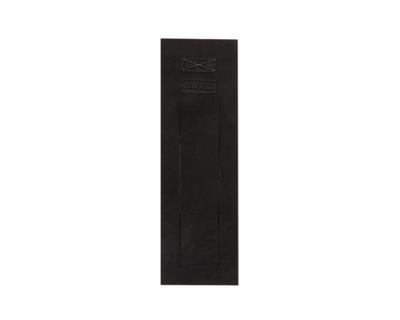 Leather bookmark black thumb