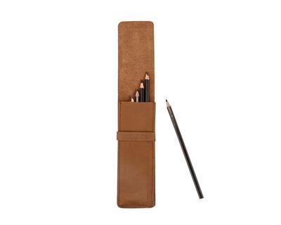 Pencil case brown thumb