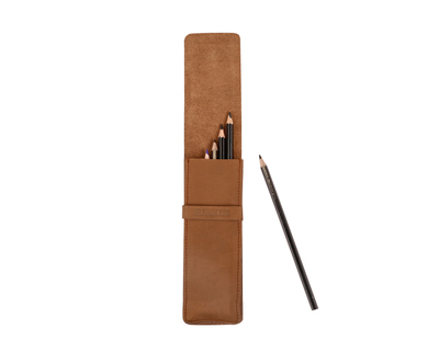 Pencil case brown thumb