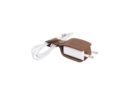 Charger wrap brown thumb
