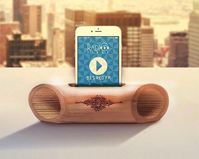 Bamboo speaker thumb