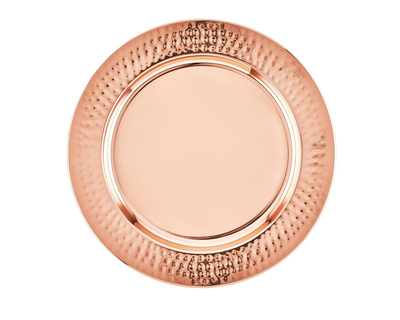 Copper plated charger plate thumb