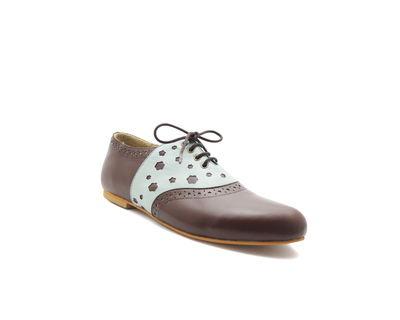 Kiara brown mint oxfords thumb