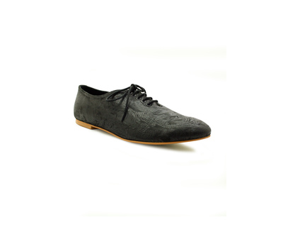 Ora black foiled leather oxfords thumb