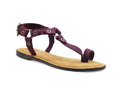 Aurora flat sandals thumb