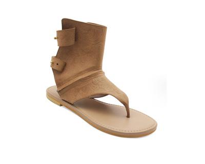 Arya tan convertible sandals thumb