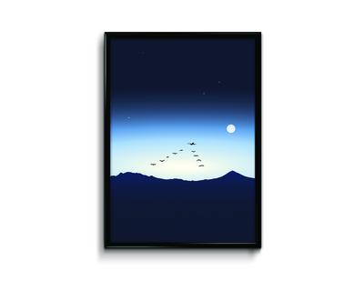 Modern landscapes morning flight thumb