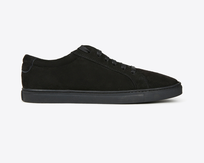 Leather sneakers black classic thumb