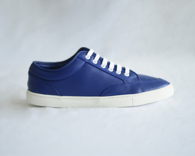 Women s leather sneakers 90s blue thumb