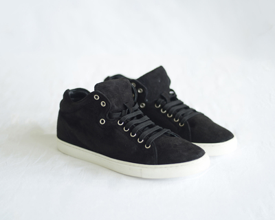 Women s leather sneakers 80s black thumb