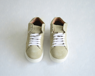 Women s leather sneakers 80s taupe thumb
