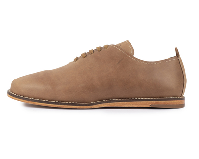 Oiled singlecut casual leather shoes brown thumb