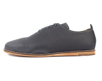 Oiled singlecut casual leather shoes indigo thumb