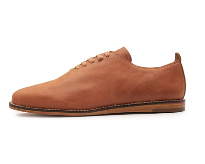 Oiled singlecut casual leather shoes tan thumb