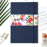Pop collective notebook navy blue small