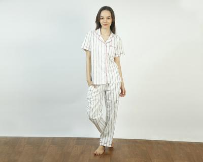 Vintage stripe pajama set thumb