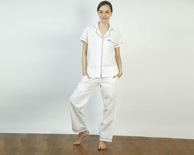 Vintage white pajama set thumb