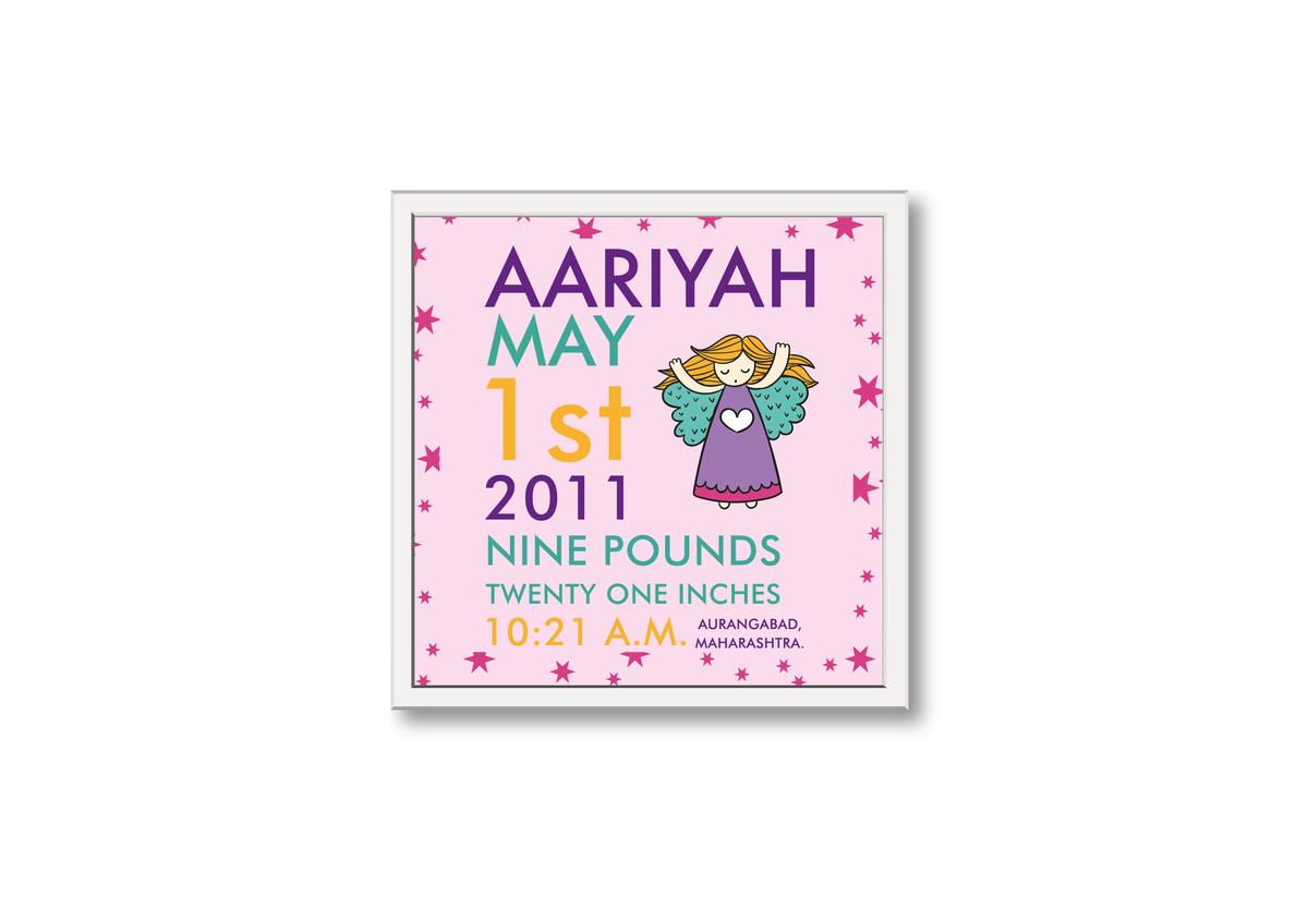Natty : Angel Birth Statistics Frame