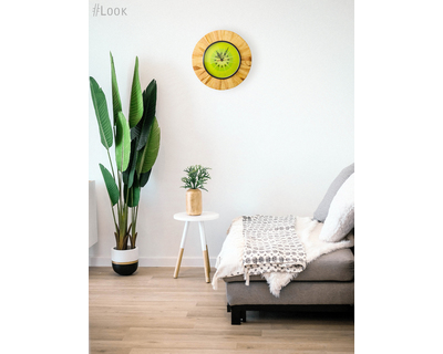 Kiwifruit wooden wall clock studio enoy thumb