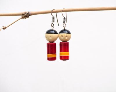 Two little angels earrings thumb