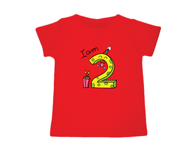 I am two red birthday t shirt thumb