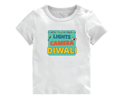 Lights camera diwali tee thumb