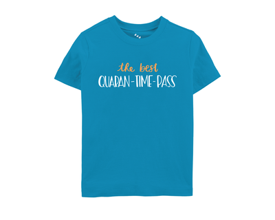 The best quaran time pass tshirt blue thumb