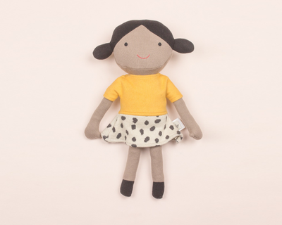 Molly knitted cotton shaped cushion thumb