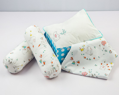 Night night organic crib gift set snuggle bunny thumb