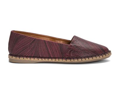 Leather espadrilles maroon thumb