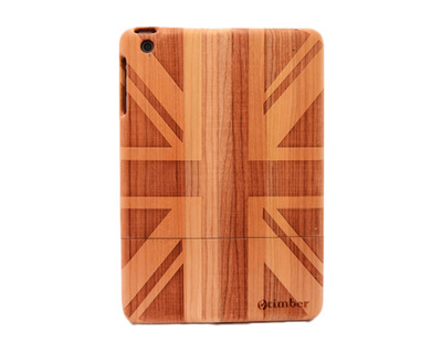 Flag engraved cherry ipad mini wood case thumb