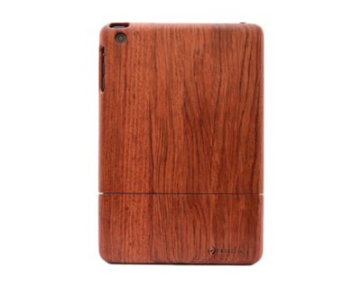 Plain rosewood ipad mini wood case thumb