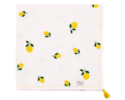 Little lemon muslin blanket thumb