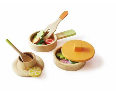 Lil chef s wooden cooking set thumb