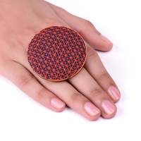 Orange dark blue ring small