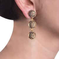 Gold beaded earrings small