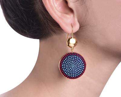 Aqua red earrings thumb