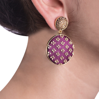Wine gold earrings small