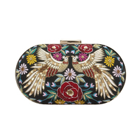 Black phoenix clutch small