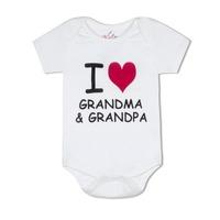 I heart grandma grandpa organic cotton romper small