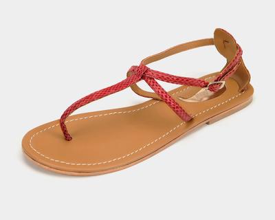 Trio sandals in cranberry thumb