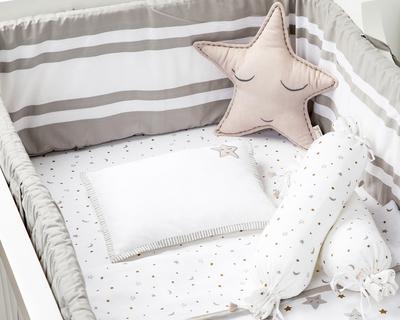 Sleepy star organic cot bedding set metallic thumb