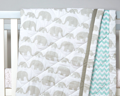 Elephant parade organic quilted blanket thumb
